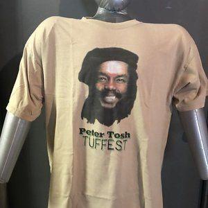 peter tosh tuffest vintage 2000s L reggae tee